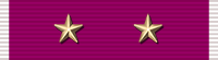 Legion of Merit ribbon with two stars