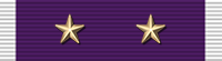 Purple Heart ribbon with two stars