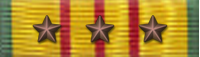 Vietnam Service ribbon with three stars